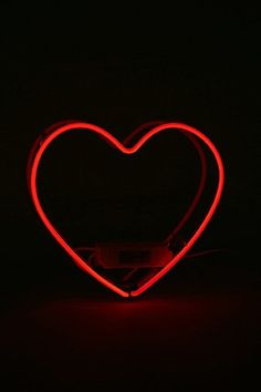 Red Neon Heart Sign