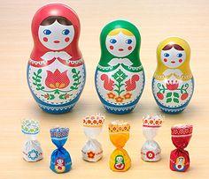 ロシア マトリョーシカ人形3姉妹 チョコレート