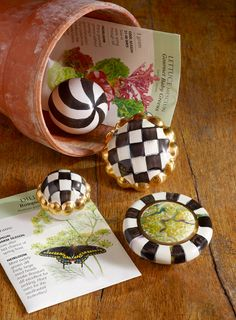 Our Courtly Check, Swirl, and Cheltenham knobs will make any vintage dresser FRESH!
