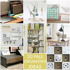 Now that the kids are back at school, we get the pleasure of cleaning up the house after 3 months of playdates. So here are 20 Fall Organizing Ideas!