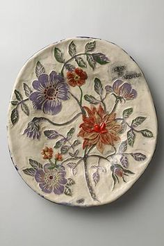 If you are looking for a cheap and creative way to add color and life into your interior, then look no further than ceramic plates. Rather than turning to expensive art pieces and portraits, you ca… Ceramic Clay, Ceramic Plates, Porcelain Ceramics, Ceramics Tile, Porcelain Tiles, Pottery Plates, Ceramic Pottery, Types Of Ceramics, Cerámica Ideas