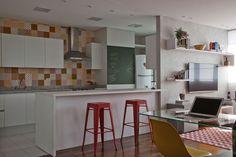 Escritório Samy e Ricky - Edifício 360 º by Isay Weinfeld, SP (Apto 68 m²)