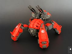 (by Cole Blaq) - I know it's lego, but the structure is cool Lego Mecha, Robot Lego, Lego Bots, Lego Spaceship, Arte Robot, Lego War, Lego Design, Animal Robot, Lego Machines