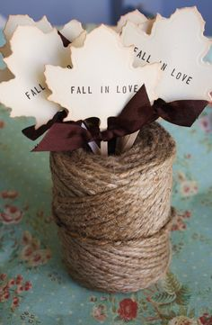 Fall In Love Cupcake Toppers By A Sweet Little Note - cute for cupcakes Wedding Show, Our Wedding, Dream Wedding, Wedding Ideas, Fall Wedding Cupcakes, Wedding Cakes, Wedding Schedule, Wedding Planning, Autumn Wedding