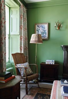 Home Decor Living Room A failsafe guide to decorating with strong colour and pattern.Home Decor Living Room A failsafe guide to decorating with strong colour and pattern Pierre Frey Fabric, Ercol Chair, Green Velvet Sofa, Velvet Chairs, Kitchens And Bedrooms, Art And Craft Design, Green Rooms, Yellow Painting, Flat Color