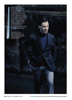 Benedict Cumberbatch for Esquire