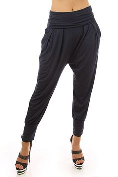 Solid Harem Pants