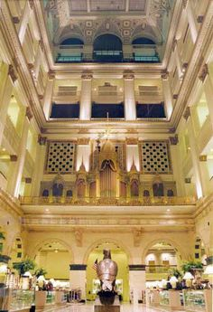"""""""Meet me at the eagle,"""" Wanamaker's Department Store, Philadelphia, PA. Many moons ago, I saw two grande dames of the silver screen there, Bette Davis and Gloria Swanson (not together!)"""