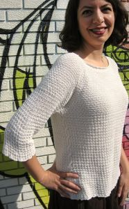 Hemp sweater. Free knitting pattern. Pattern category: Sweaters. DK weight yarn. 900-1200 yards. Features: Seamless. Easy difficulty level.