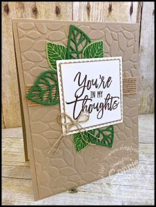 This lovely color combination is perfect for projects for anyone in your life! #thoughfulbranches #stampinup