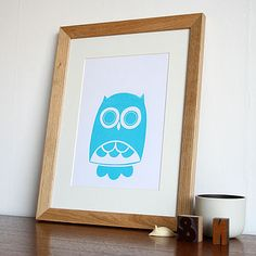 Owl Hand Screen Printed Poster