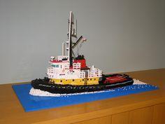 Lego Boat, Lego Ship, Cool Lego Creations, Tug Boats, Lego Friends, Crowley, Lego City, Legos, Trains
