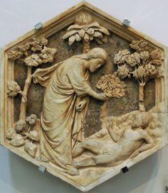 Andrea Pisano, Creazione di Adamo (rilievo per il Campanile di Giotto), 1334-36, Museo dell´Opera del Duomo, Firenze