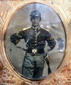 Antique Civil War Union Sergeant Soldier Tintype Photograph Photo Sword Uniform