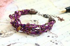 Purple Bracelet /Boho bracelet/ Beaded Bracelet / by byHamelin