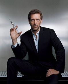 Hugh Laurie-  he's sexy because he's funny and snarky. I loved him in Sense and Sensibility, Jeeves and Wooster, and House!