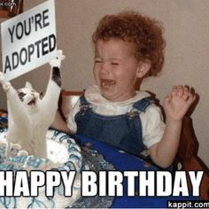 54 Ideas funny happy birthday pictures for women children for 2019 Sister Birthday Quotes Funny, Funny Happy Birthday Meme, Funny Happy Birthday Pictures, Birthday Memes, Birthday Wishes, Sister Meme, Birthday Greetings, Sister Quotes, Funny Pictures
