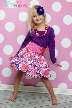 Daphne's Bubble Skirt and Top Sewing PDF Pattern sizes 6/12 months to 8 girls. $10.00, via Etsy.
