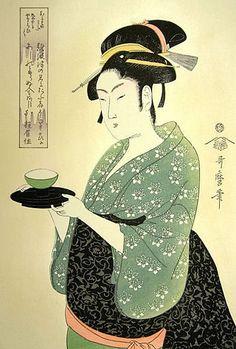 Okita of Naniwaya by.Kitagawa Utamaro