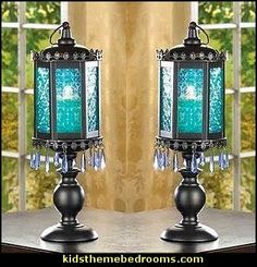 decorated gypsy style candles | ... of this candle lamp cast an enchanting aura of peace and tranquility