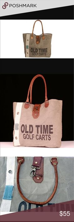 💕 NEW ARRIVAL....... OLD TIME CANVAS TOTE BAG The Old Time Tote Bag is made from soft stonewashec canvas and features drop handles and other elements in soft leather, stylish ticking, and a handy inside pocket that adds fashion and convenience.  BRAND NEW AND NEVER USED!  (PO-GNG-15) BACKROADS TEXTILES Bags Totes