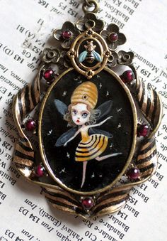 The Queen  Honey Bee Mine  original cameo by Mab by mabgraves, $225.00