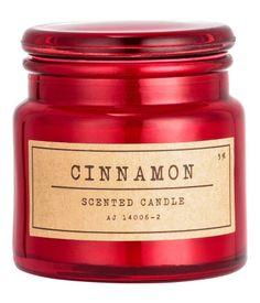 Lite duftlys i glasskrukke | Rød/Cinnamon | Home | H&M NO