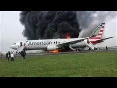 Passenger records burning plane at OHare-USA TODAY Sports Chicago Airport, O'hare International Airport, Federal Aviation Administration, Airline Flights, Usa Today Sports, Black Smoke, Flight Attendant, Abc News, Fire Trucks