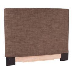 Howard Elliott Upholstered Slipcover Headboard - Coco Slate, Size: Full/Queen - K123-891
