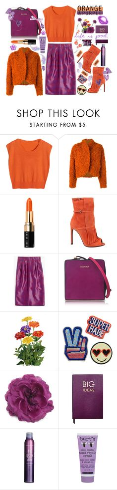 """ #613 Life is good "" by wonderful-paradisaical ❤ liked on Polyvore featuring Kenzo, Bobbi Brown Cosmetics, Gucci, J.Crew, Balmain, Schick, Sloane Stationery, Bumble and bumble, Burt's Bees and Winter"
