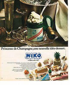 Bouteille de champagne Miko - on jouait avec après avoir tout mangé !