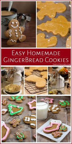 Are you a fan of Gingerbread cookies? Why not make them this year? We have a Easy Homemade Gingerbread Cookie recipe to help you get the job done right. Get the kids in on the fun and make it a family tradition! | SimpleFood365.com
