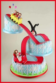 The Rollercoaster Ride This was a very personal wedding cake made for a lovely couple Tara and Ben.x  Sandra Monger Cakes UK
