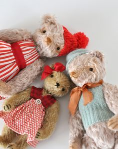 hand made bears by Jennifer Murphy (siblings of the POLKA DOT CLUB)