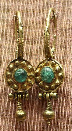 earrings, gold, Byzantine by Atelier Sol Byzantine Gold, Byzantine Jewelry, Renaissance Jewelry, Medieval Jewelry, Ancient Jewelry, Antique Jewelry, Vintage Jewelry, Wiccan Jewelry, Viking Jewelry