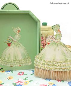 Vintage Home - 1930s Painted Crinoline Lady Brush and Crumb Tray: www.vintage-home.co.uk