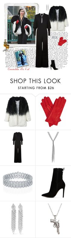 """Cruella De Vil - Once Upon A Time"" by greerflower ❤ liked on Polyvore featuring Gizelle Renee, Once Upon a Time, STELLA McCARTNEY, Thalia Sodi, ALDO, Rebecca Minkoff and La Preciosa"