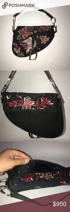c51193d6186b Christian Dior embroidered butterfly saddle bag Christian Dior embroidered  butterfly saddle bag This bag is so