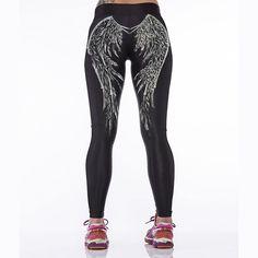 Angel wings Digital 3D Printed Yoga Pants Stretchy Tight Pants Women Sport Pants #Unbranded #sportpants