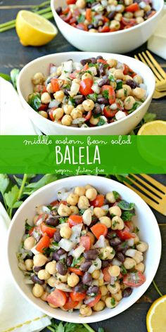 Middle Eastern Bean Salad (Balela) is healthy, delicious, and naturally vegan and gluten-free! (Trader Joe's copycat) via Veggies Save The Day salad salad salad recipes grillen rezepte zum grillen Bean Salad Recipes, Diet Recipes, Vegetarian Recipes, Cooking Recipes, Healthy Recipes, Bean Salads, Trader Joes Vegetarian, Vegan Bean Recipes, Pulses Recipes