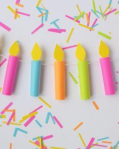 Make this birthday candle garland | aliceandlois.com