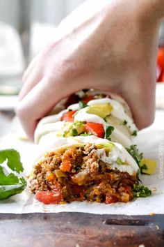 Quick, easy, comforting, inexpensive Beef, Bean and cheese Burritos stuffed with the best filling you will be eating with a spoon is the answer to your Beef Recipes For Dinner, Ground Beef Recipes, Cooking Recipes, Mexican Dishes, Mexican Food Recipes, Ethnic Recipes, Mexican Cooking, Enchiladas, Tostadas