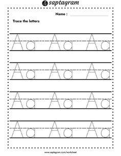 Printable Trace the Alphabet Worksheets. Preschool-KDG Phonics Creative Writing Worksheets, English Worksheets For Kindergarten, Kindergarten Learning, Kids Writing, Kindergarten Worksheets, Worksheets For Kids, Printable Worksheets, Kids Learning, Nursery Worksheets