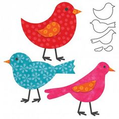 cute bird cutouts - for shelf?