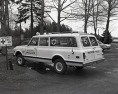 1970 Chevrolet Suburban. Not quite an ambulance, not quite a patrol vehicle. Used for over 25 years, though.