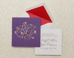 Floral Monogram | Cheree Berry Paper
