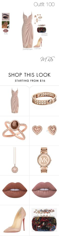 """""""HUNDRED🎉🎊"""" by minkablack ❤ liked on Polyvore featuring Zimmermann, Michael Kors, Thomas Sabo, Lime Crime, Christian Louboutin and Alexander McQueen"""