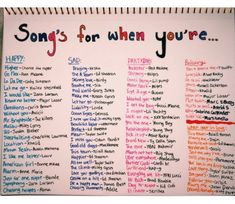 Weddings Discover Songs for when you& feeling a specific emotion playlist bullet journal Mood Songs Music Mood Upbeat Songs Good Vibe Songs What To Do When Bored Things To Do When Bored For Teens Song Suggestions Song Playlist Summer Playlist Music Mood, Mood Songs, Upbeat Songs, Good Vibe Songs, What To Do When Bored, Things To Do When Bored For Teens, Feeling Song, Song Suggestions, Aesthetic Songs