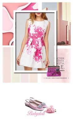 """""""Luli"""" by stellina-from-the-italian-glam ❤ liked on Polyvore featuring Ricardo, dresses, summerdress and babydolldress"""