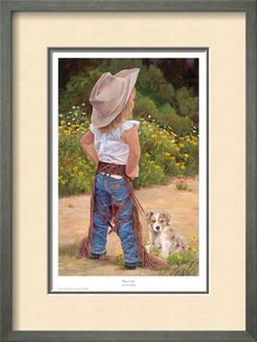 Boss Lady by June Dudley - Little Cowgirl Puppy Dog Little Cowboy, Cowboy Up, Cowboy And Cowgirl, Toddler Cowgirl, Cowboy Hats, Danse Country, Little People, Little Girls, Cute Kids